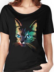 POP ART CAT Women's Relaxed Fit T-Shirt