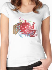 Tea  Women's Fitted Scoop T-Shirt