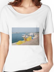 Fishing nets and boats, Agistri Women's Relaxed Fit T-Shirt