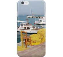 Fishing nets and boats, Agistri iPhone Case/Skin