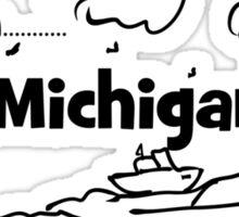 Lake Michigan Lighthouse Sticker