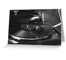 That old time music BW Greeting Card