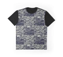 Grey Scale Cars Graphic T-Shirt