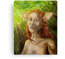 Deer Woman Scents the Hunter Canvas Print