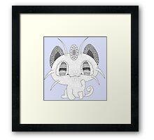 Pokemon Meowth Framed Print