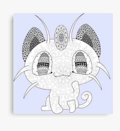 Pokemon Meowth Canvas Print