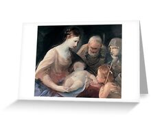 The Holy Family with St Elizabeth and St John the Baptist Greeting Card