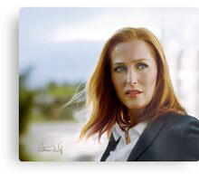 Scully in the wind Metal Print