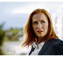 Scully in the wind Photographic Print