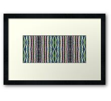 Bamboo Stripes Framed Print