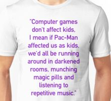 """Computer games don't affect kids..."" / Violet Unisex T-Shirt"