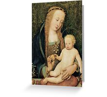 Virgin and Child with Pomegranate Greeting Card