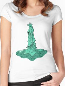 Angel of Liberty Women's Fitted Scoop T-Shirt
