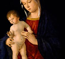Madonna with the Child Blessing by Bridgeman Art Library