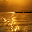 Lismore Lighthouse Sunset by David Alexander Elder