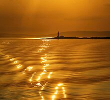 Lismore Lighthouse Sunset by David Alexander Elder
