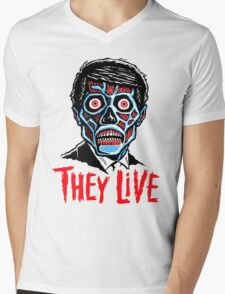 THEY LIVE!!! Mens V-Neck T-Shirt