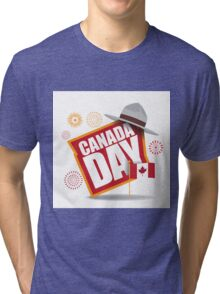 Canada Day maple leaf flag design Tri-blend T-Shirt