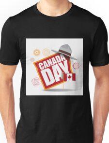 Canada Day maple leaf flag design Unisex T-Shirt