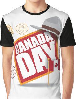 Canada Day maple leaf flag design Graphic T-Shirt