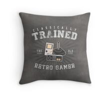 Classically Trained Retro Gamer Throw Pillow