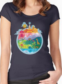 Small World Women's Fitted Scoop T-Shirt