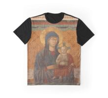 Fresco of Madonna and the Child Graphic T-Shirt