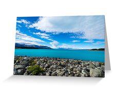 Blue serenity lake Greeting Card