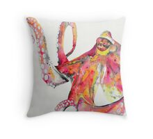 Octopus Pillow, octopus painting Throw Pillow