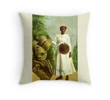 Basket Weaver Throw Pillow