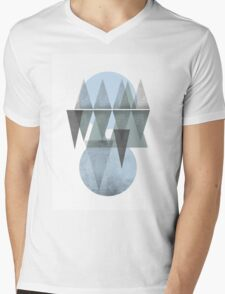 blue space Mens V-Neck T-Shirt