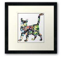 FLOWER  CAT Framed Print