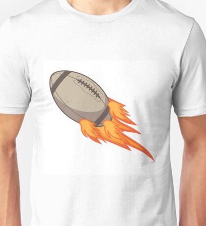 Flaming football. Unisex T-Shirt