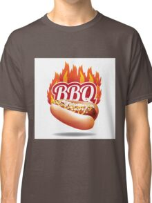 Barbecue BBQ flaming hot dog Classic T-Shirt