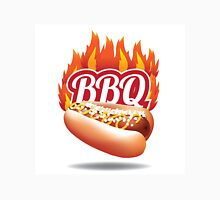 Barbecue BBQ flaming hot dog Unisex T-Shirt