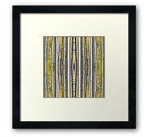 Birch Forest Pin Stripes Framed Print