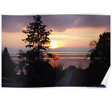 Sunset - Lake Constance Poster