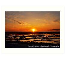 Spring Lake Superior Sunset Art Print