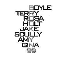 Brooklyn 99 Characters B&W Photographic Print