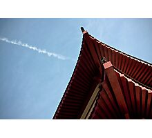 red chinese roof Photographic Print