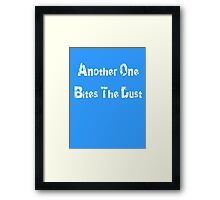Another One Bites The Dust - Song T-Shirt Framed Print