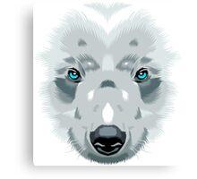Bear white Canvas Print