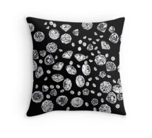 Scattered Gems Throw Pillow