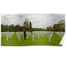 France - Normandy American Cemetery and Memorial Poster
