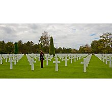 France - Normandy American Cemetery and Memorial Photographic Print