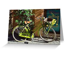 Green Cruiser Greeting Card