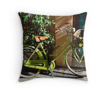 Green Cruiser Throw Pillow