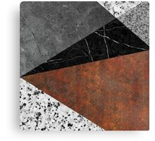 Marble, Granite, Rusted Iron Abstract Canvas Print