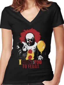 I Want You to Float Women's Fitted V-Neck T-Shirt
