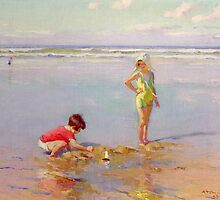 Children on the Beach by Bridgeman Art Library